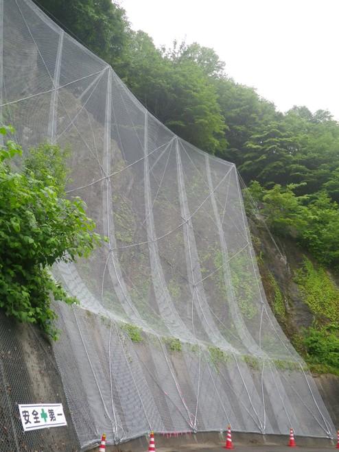 平成29年度大町ダム右岸管理用道路落石対策工事